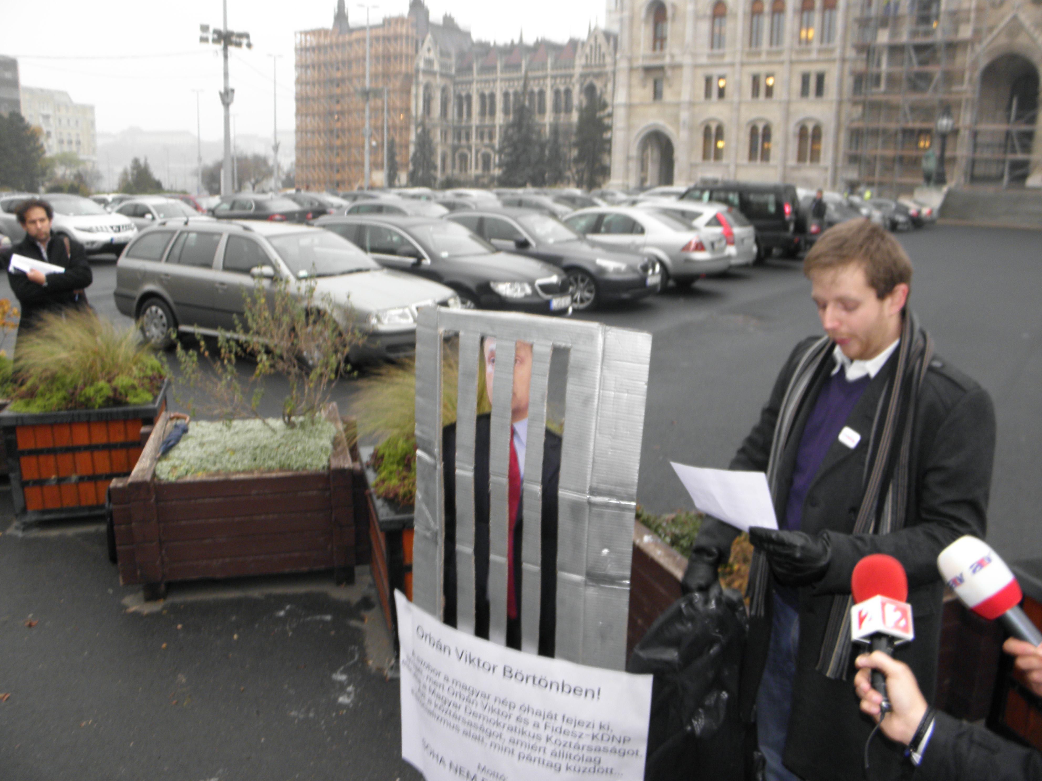 Szobor Orbán Viktornak - Tanos Áron beszéde